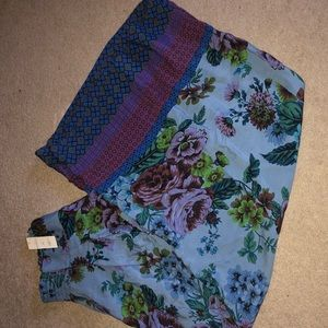 Maeve for Anthropologie wide leg floral pants. NWT